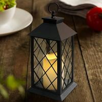 Buy cheap Vintage Indoor Black Lantern Flameless LED Candles With Plastic Wavy And Drip from wholesalers