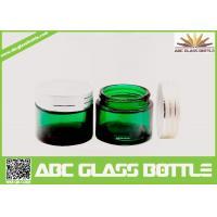 Buy cheap Vintage Green Screw Plastic Lids For Skin Cream Glass Jars,15ml Green Glass Skin Cream Bottle product