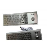 Buy cheap Panel Mount Industrial Keyboard With Trackball Mouse 67 Keys Optional Braille from wholesalers