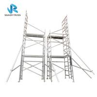 Buy cheap Building Construction Cleaning Aluminium Scaffolding Ladder , En1004 Mobile Tower Scaffold from wholesalers