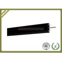 Buy cheap 2core FTTH Fiber Optic Cable FRP Strength Member black color with SC Connector from wholesalers