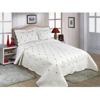 Fade Resistant Quilts With Embroidery , 160x240 / 220x240cm Cotton House Quilt Covers