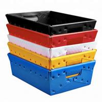 Buy cheap Mannkie foldable recycled coroplast box pp corrugated plastic boxes from wholesalers