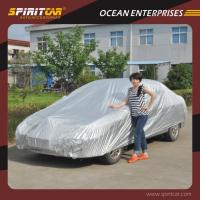 Buy cheap 190T Terylene Silve Coated Outdoor Car Covers Protections From UV / Wind / Rain from wholesalers