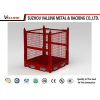 Buy cheap Stackable Red Collapsible Wire Mesh Container For Warehouse 1200*1000*890mm from wholesalers