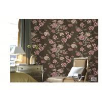 PVC vinyl wallpaper European flower  design fashion washable waterproof