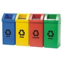 Buy cheap Colored Collapsible Plastic Recycle Bins Light Weight For Recycling from wholesalers
