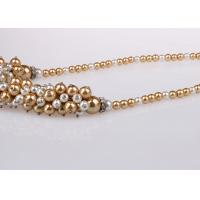 China Single Strand Costume Pearl Necklace For Bridesmaids Custom Multicolor on sale