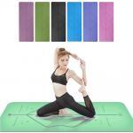 Buy cheap Non Slip Fitness Yoga Mat / TPE Yoga Mat Pilates Gym Exercise Sport Living Room Pads from wholesalers