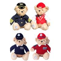 Buy cheap 8 Inch Stuffed Animal Toys Pilot Teddy Bear With Uniforms For Promotion Gifts from wholesalers