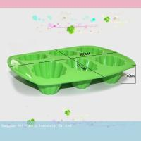 Buy cheap Green six cavity Silicone Cake Moulds for making cake chocolate bareware from wholesalers