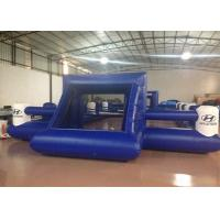 Buy cheap Outdoor Funny Inflatable Football Games Digital Printing dark blue customized inflatable football area from wholesalers