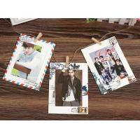 Buy cheap 6inch vintage style hanging paper photo frame wholesale stamped paper from wholesalers