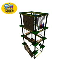 Buy cheap naughty castle climbing wall outdoor playground adult obstacle course children rope course from wholesalers