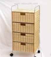 Buy cheap 3 drawer rattan Wicker cabinet from wholesalers