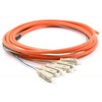 Buy cheap SM Single Mode Fiber Pigtail Connector , FC SC LC ST Fiber Optic Connectors 500m Transmission from wholesalers