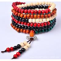 Buy cheap Sandalwood bead bracelet with colorful kong multilayer couple bracelet product