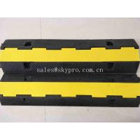 Buy cheap SGS Molded Rubber Products 1 Channel Heavy Duty Rubber Cable Tray Cable Protector from wholesalers