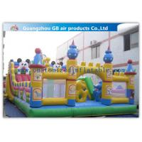 Buy cheap Superman Inflatable Fun Park Funland , Childrens Bouncy Castle With Slide from wholesalers