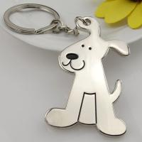 Buy cheap Dog shape keychain metal key ring OEM design from wholesalers
