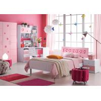 Buy cheap Pink Color Matt Barbie Modern Girl Bedroom Furniture / Kids Bedroom Suite from wholesalers