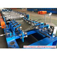 Buy cheap 7.5 Kw Sandwich Panel Roll Forming Machine Roofing Roll Former For Continuous PU Line from wholesalers