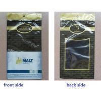 Black Anticorrosive Plastic Cigar Bags For Colombia / Dominica Cigars