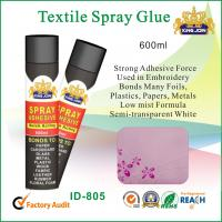 Buy cheap Black 600ml Cloth / Paper Textile Spray Glue Adhesive To Metal / Wood Or Glass from wholesalers