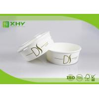 Buy cheap 26oz Nice Upscale Smooth Golden Ink Printing Paper Salad Bowls with Clear Flat Lids from wholesalers