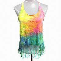 Buy cheap Dirty Washed and Tie-dyed T-shirt, Made of 100% Cotton  from wholesalers