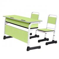 Buy cheap China school classroom desk and chair two-seater study table and chair set from wholesalers