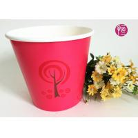 Buy cheap 36oz Christmas Decorating Single Wall Paper Plant Pot   Red Color from wholesalers