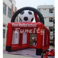 China Customized Logo Inflatable Soccer Goal , Inflatable Soccer Games 6ML*3MW Size on sale