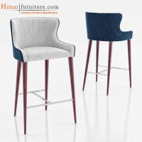 Buy cheap Wooden Breakfast Bar Stools / High Strength Modern Bar Chairs with Fabric Seat from wholesalers