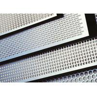 Buy cheap 304 316 Stainless Steel Perforated Metal , Silver Stainless Perforated Plate Round Hole Shape from wholesalers