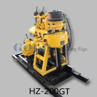 Buy cheap 200m depth 75mm diameter portable Core sample Drilling Rig HZ-200GT from wholesalers