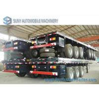 Buy cheap 3 Axles 40 Feet Container Flatbed Semi Trailer , Load 50 Ton from wholesalers