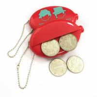 Buy cheap Promotional Coin holder keychain PVC logo customized coin purse from wholesalers