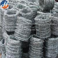 Buy cheap BWG12*12 , 12*14 Galvanized High Tensile Barbed Wire Used For Security , Defend from wholesalers