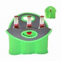 Neoprene bottle cooler/neoprene six wine bottle cooler for promotional gifts