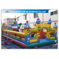 Buy cheap Funny Giant Inflatable Amusement Park Happy Family Bouncy House product
