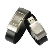 Buy cheap Custom Leather Bracelet 4GB 8GB 16GB USB Flash Drive With OEM from wholesalers