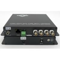 Buy cheap Multifunctional 4-ch Video+1-ch 10/100 Ethernet+1-ch RS232 To Fiber Optic converter from wholesalers