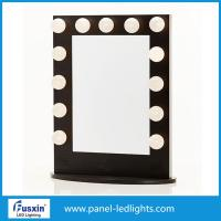 Buy cheap White Aluminum Tabletop Makeup Mirror With Lights IP67 With Light Bulbs from wholesalers