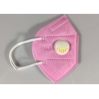 Quality Disposable GB2626-2006 KN95 Earloop Face Mask With Valve In Pink for sale