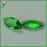 Buy cheap machine cut marquise shaped green clear crystal glass gem stones from wholesalers