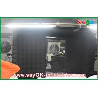 Buy cheap Black Big Quadrate Strong Oxford Cloth Photobooth , Large Inflatable Photo Booth from wholesalers