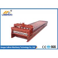 Buy cheap Red color Glazed Tile Roll Forming Machine , 10-15m/min Glazed Tile Making Machine from wholesalers