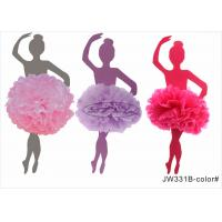 Buy cheap Pink Girl Honeycomb Pom Pom Wedding Decorations With No Printing , Long Lasting from wholesalers