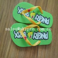 Buy cheap Summer Flip Flops Customized Sublimation EVA / Rubber Sandals Cool Slippers from wholesalers
